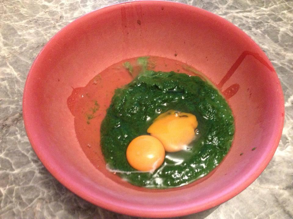 Eier vermischen