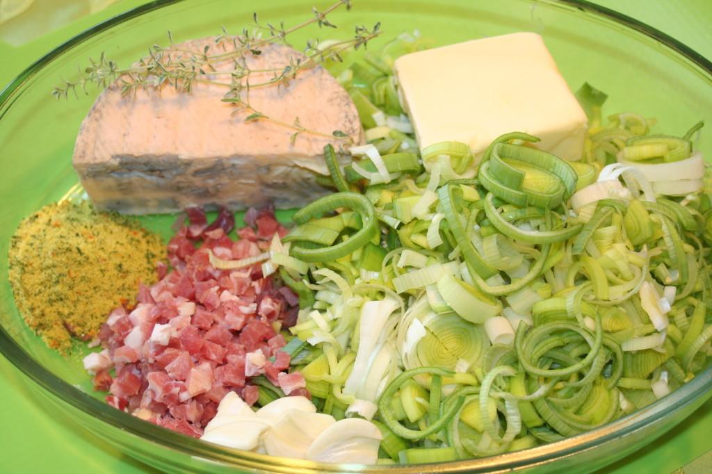 Zutaten Lauch-Käse-Suppe