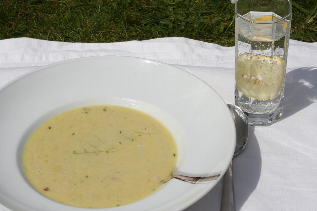 Lauch-Käse-Suppe fertig