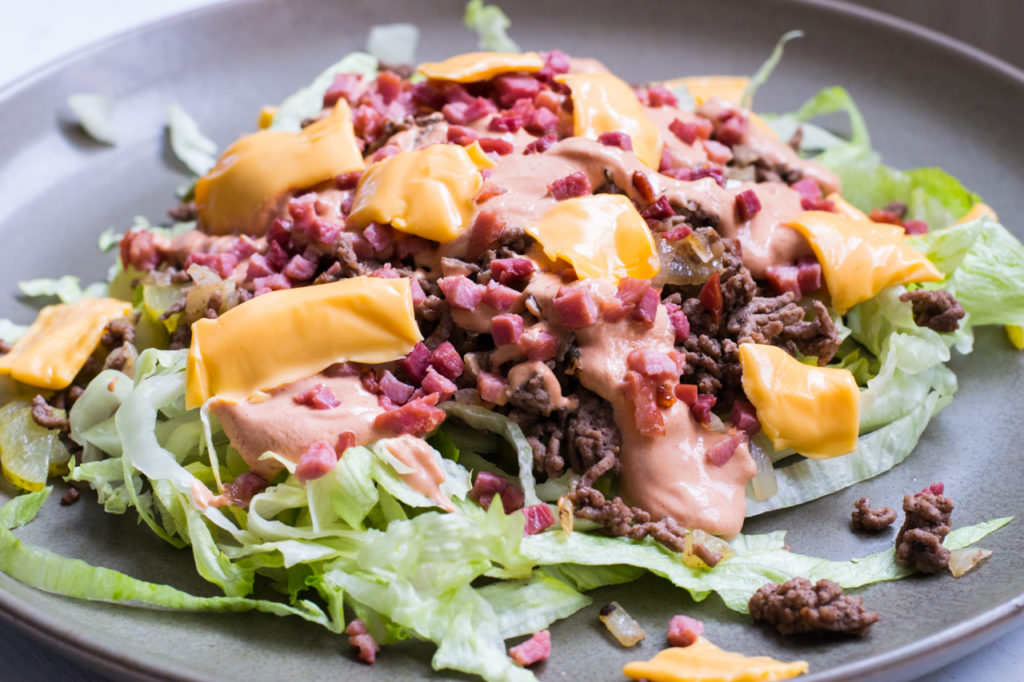 Low Carb Big Mac Salat