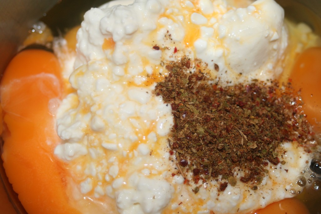 Gyrosauflauf Käsemasse ohne Feta