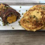 Low Carb Cheeseburger-Braten mit Blumenkohlpuffer