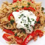 Würzige Low-Carb Sauerkraut-Paprika-Pfanne! Schnell & easy!