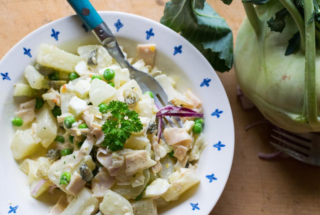 Angerichteter Kohlrabi Salat