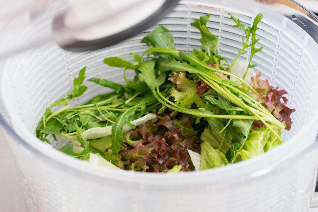 Salat waschen