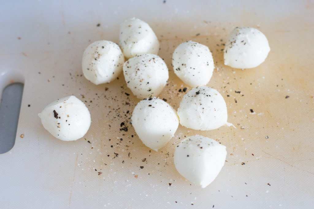 Mozzarella würzen