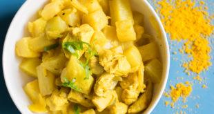 Hühnchen-Kohlrabi-Curry
