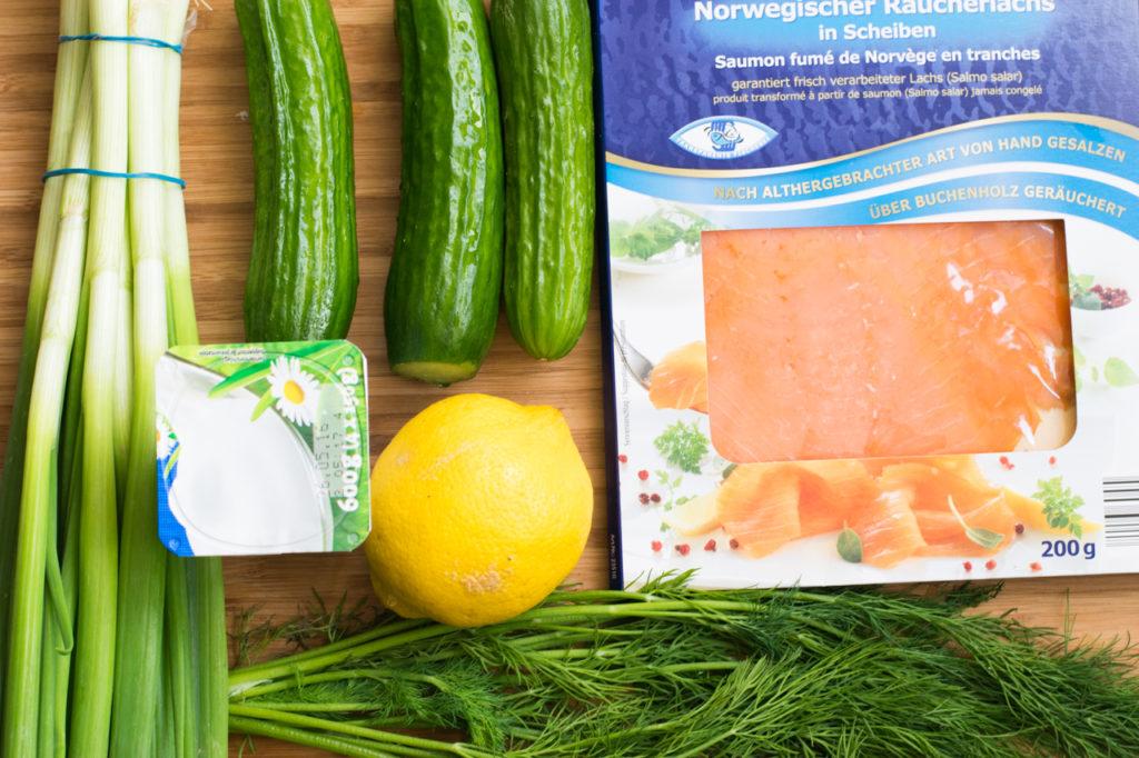 Zutaten Lachs Salat