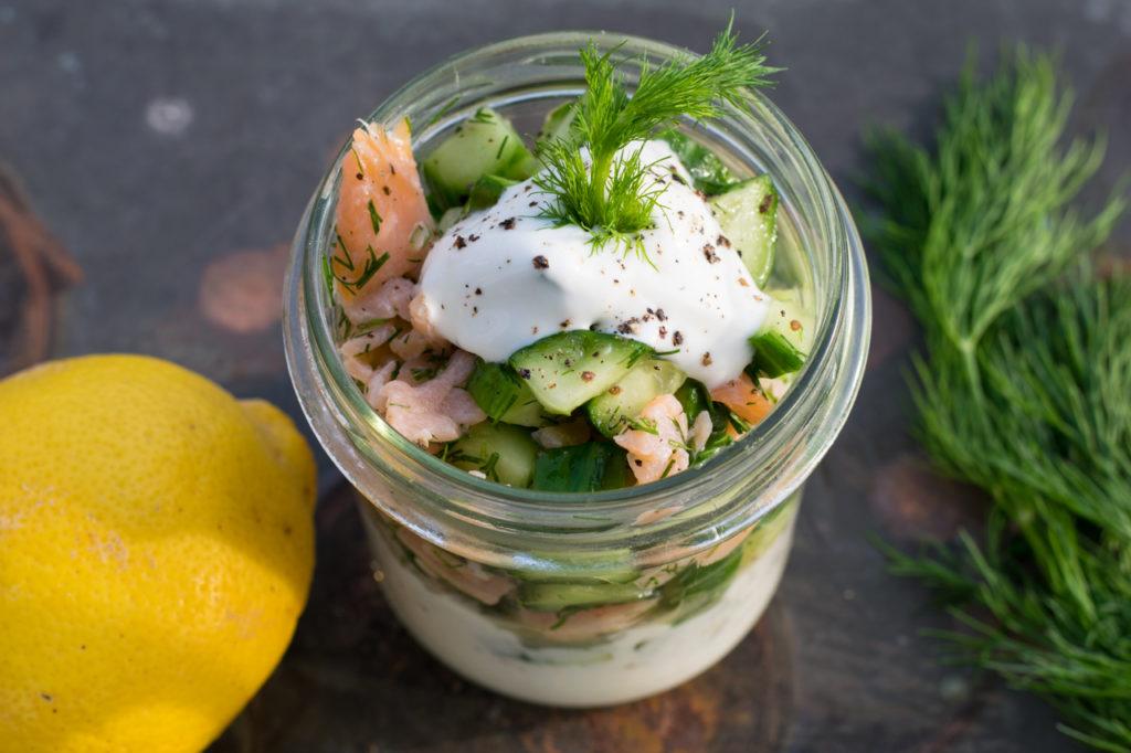 Lachs Gurken Salat