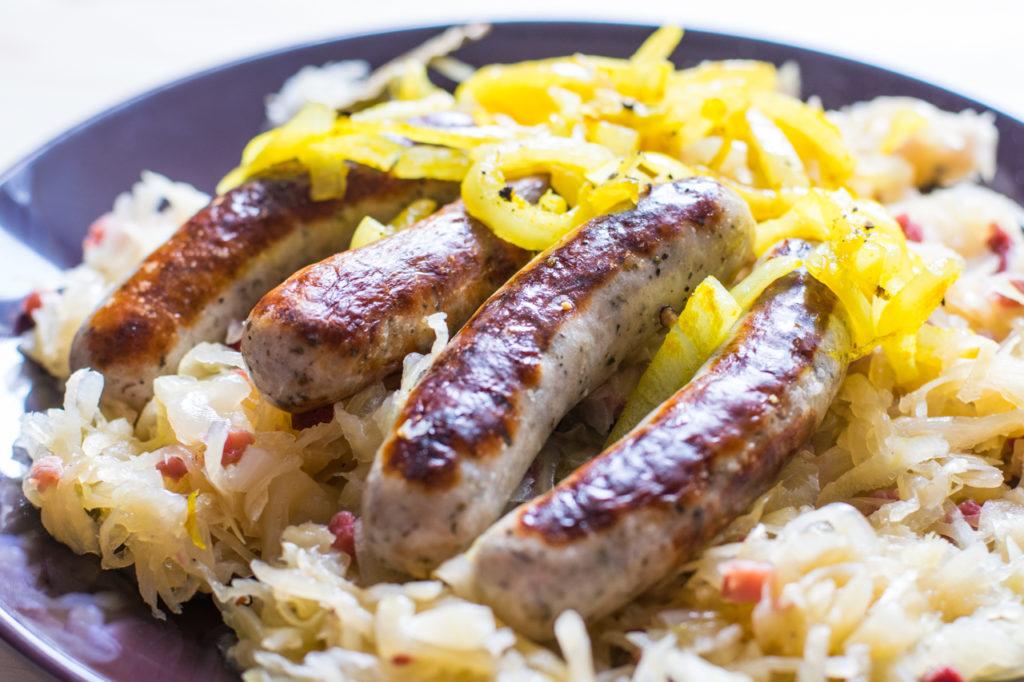 Sauerkraut servieren