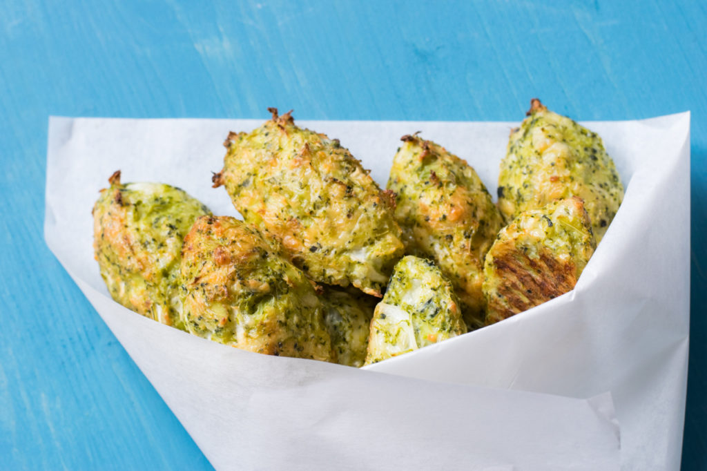 Die gebackenen Broccoli Cheese Nuggets