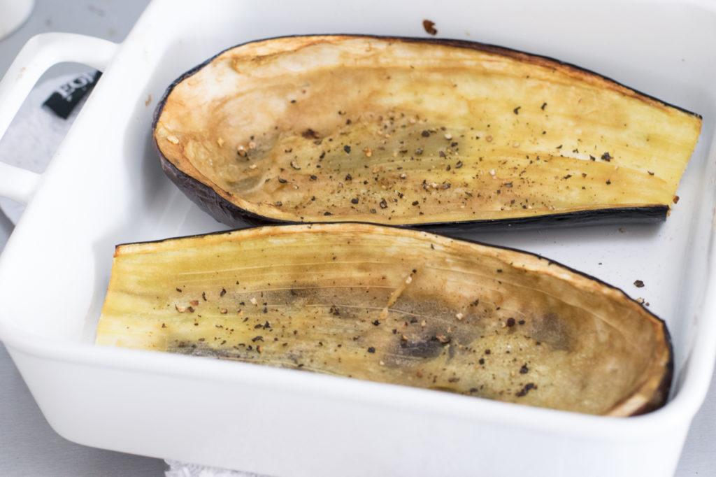 Aubergine aus dem Ofen
