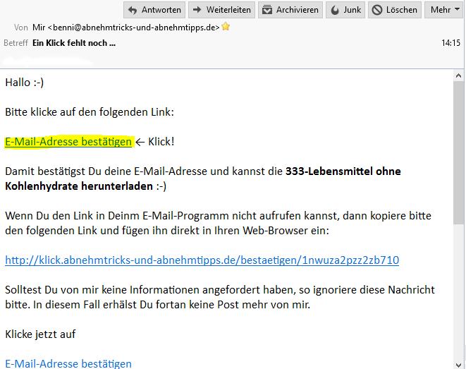 E Mail Adresse Bestätigen