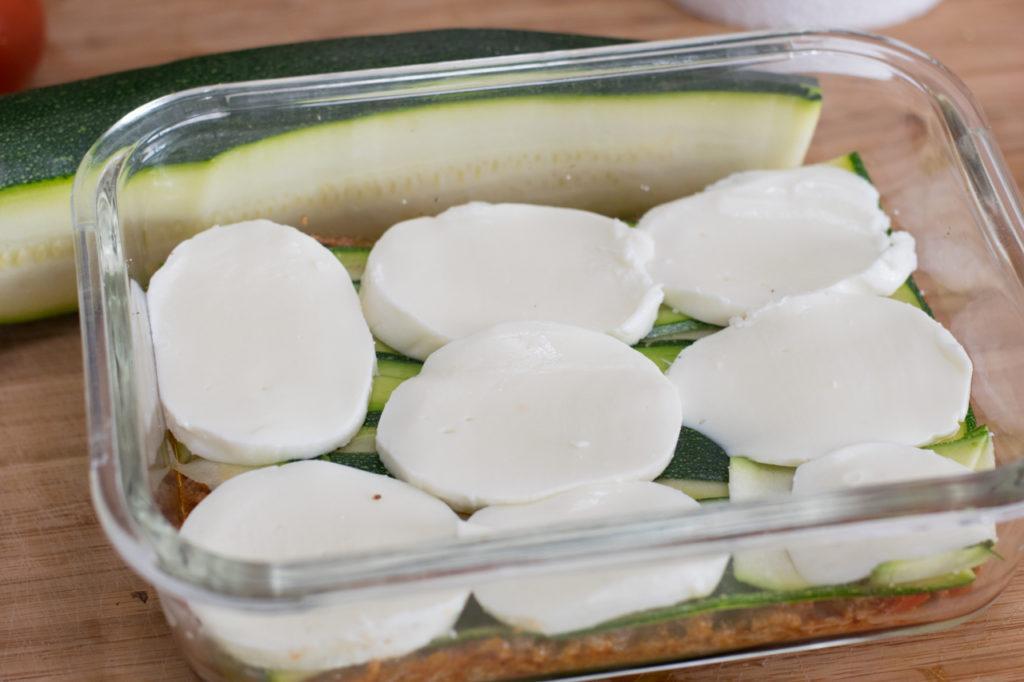 Auf Zucchini legen
