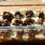 Genialer Low Carb Auflauf mit Hackbällchen & Mozzarella