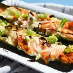 Low Carb Räucherlachs Flammkuchen Zucchini-Baguette