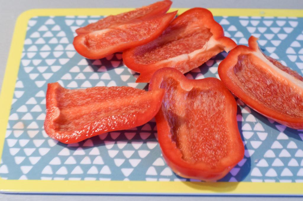 Paprika zubereiten