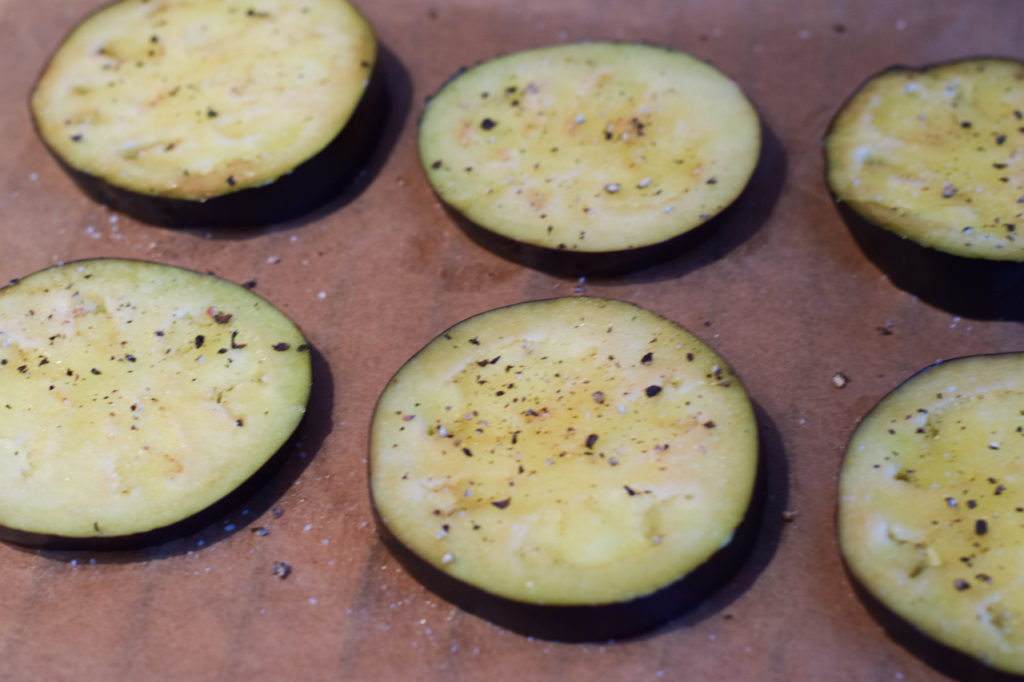 Aubergine backen