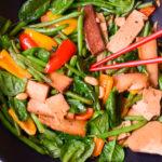 Köstliche und vegane Low Carb Asia Pfanne