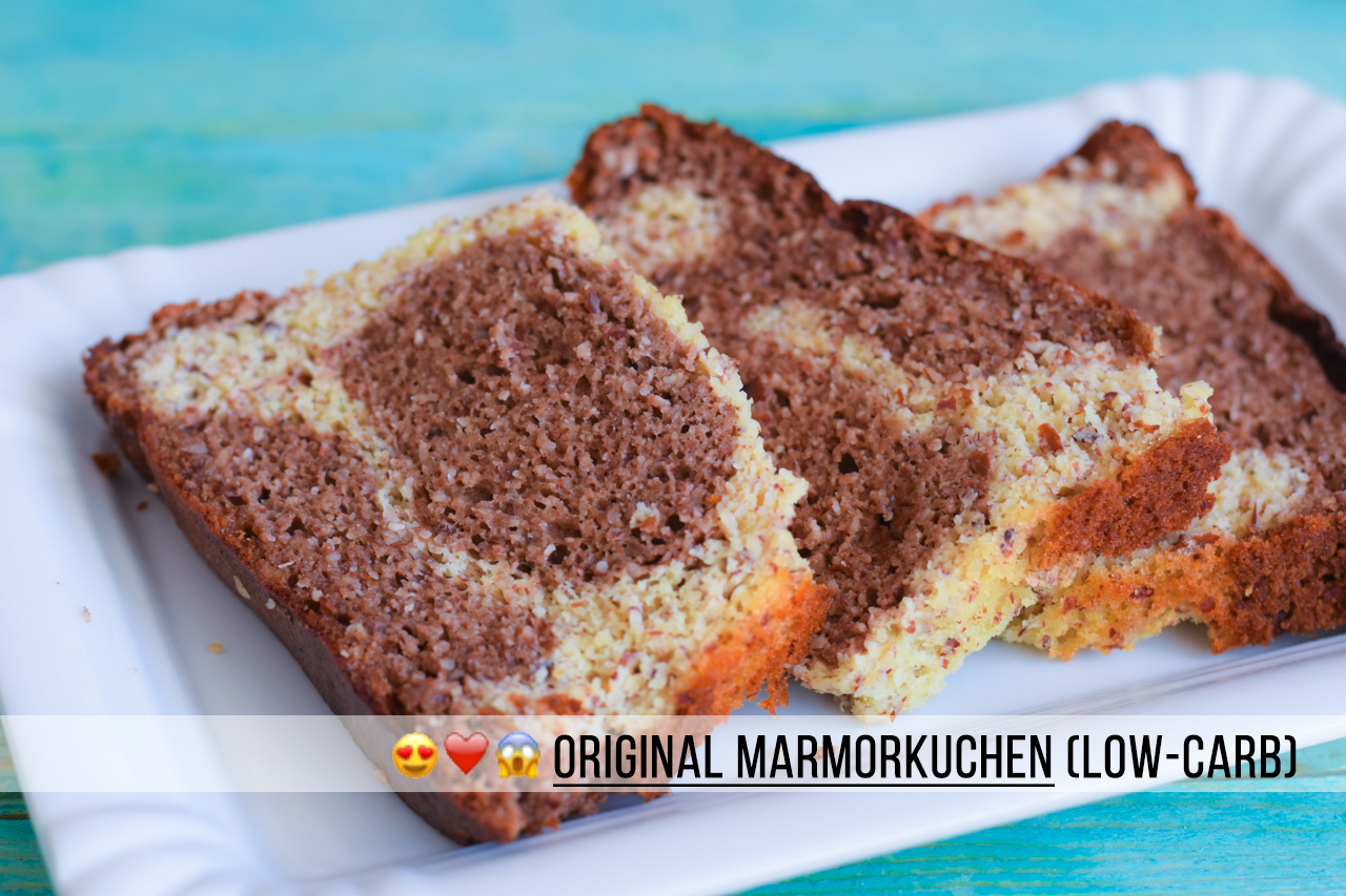 Fluffiger Low Carb Marmorkuchen