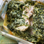 Low Carb Hähnchen mit cremiger Spinat Käse Kruste