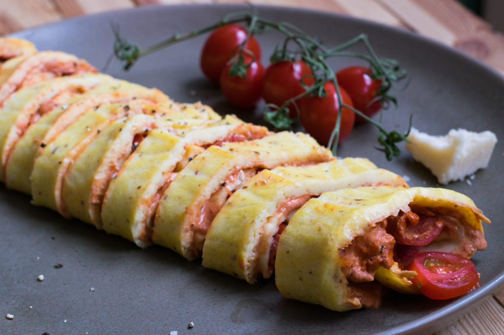 Low Carb Pizza Rolle