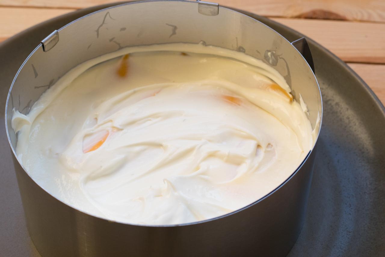 Kasekuchen mit frischkase und creme fraiche