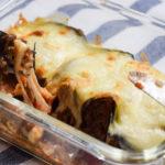 Köstliche Low Carb Bolognese Röllchen mit Mozzarella überbacken
