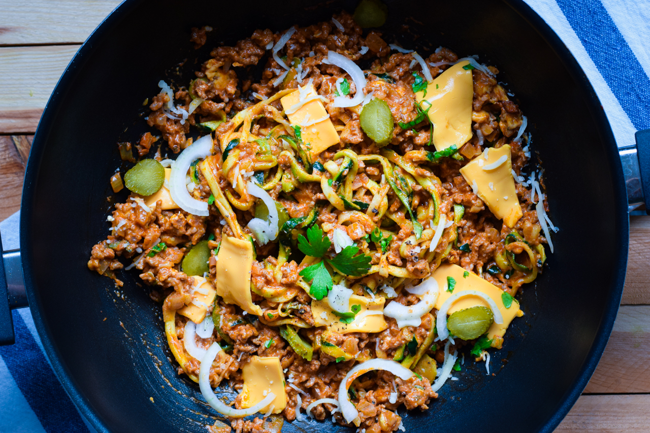 Low Carb Cheeseburger Pasta