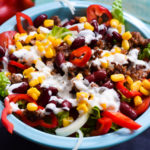 Super leckerer & würziger Low Carb Tex Mex Salat