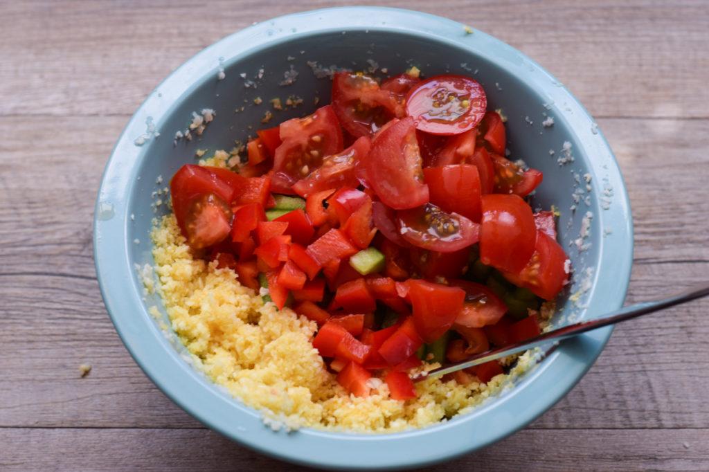 Gemüse dazugeben