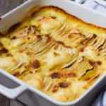Extrem leckerer falscher Low Carb Kartoffelgratin / Kartoffelauflauf