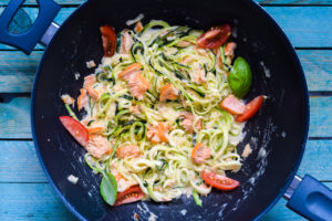 Low Carb One Pot Lachs Znudeln