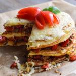 Deftige Low Carb Pfannkuchen Hackfleisch Torte knusprig überbacken