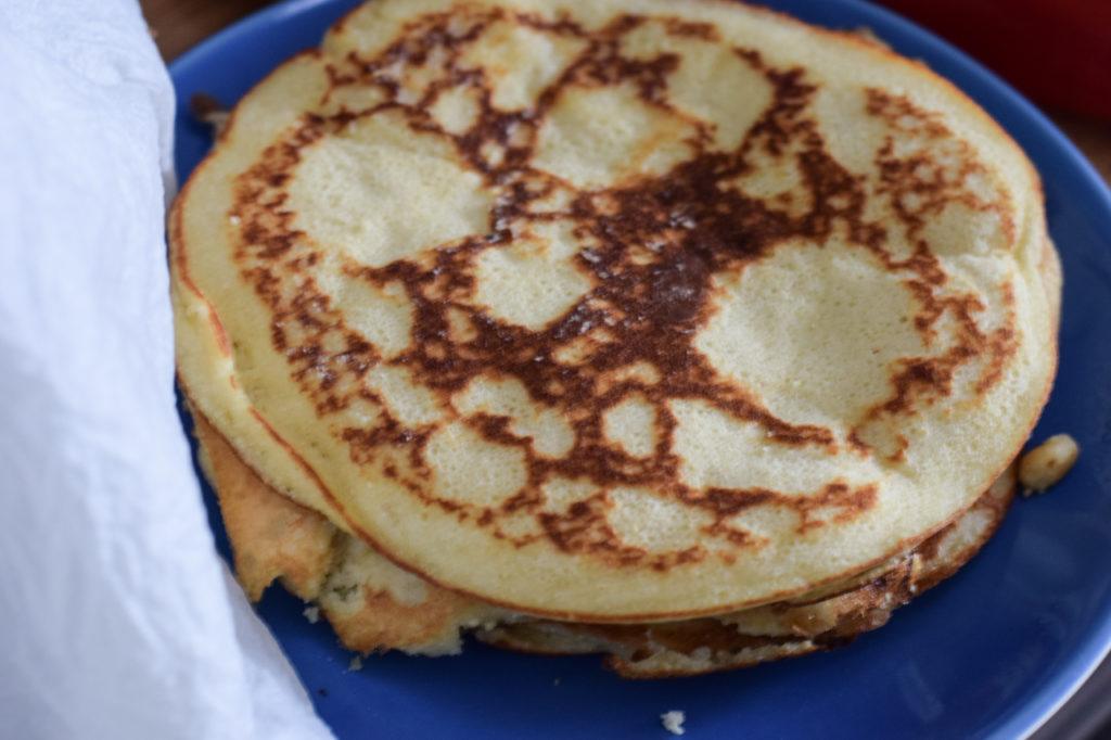 Pfannkuchen beiseite stellen