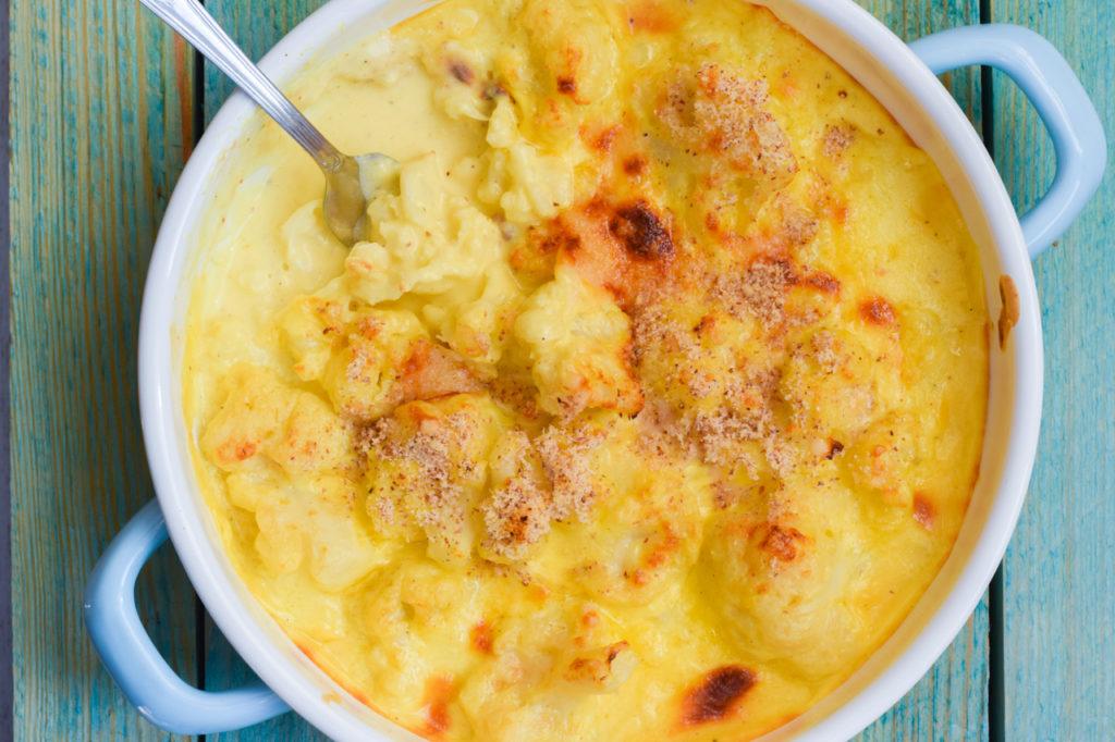 Low Carb Cauliflower Mac'n'Cheese