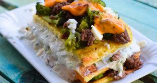 Low Carb Tzatziki-Brokkoli-Schichtkuchen