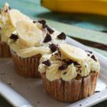 Saftige Low Carb Banana Chocolate Cupcakes