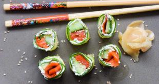 Low Carb Räucherlachs Sushi