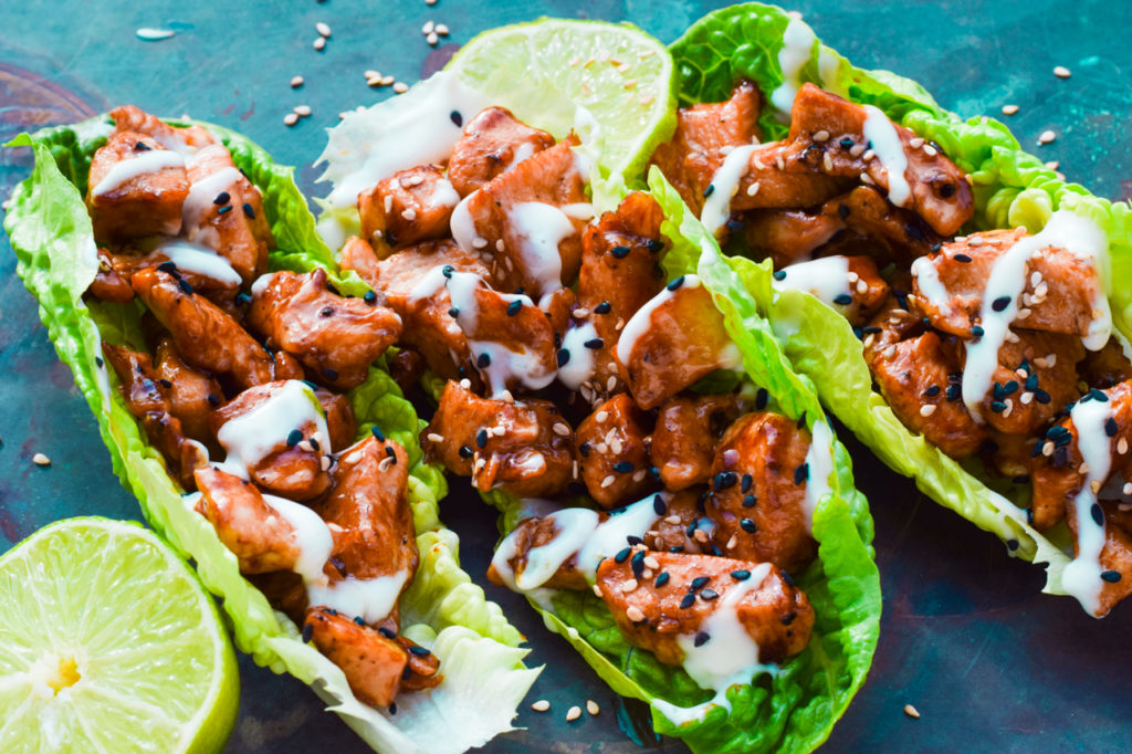 Low Carb Teriyaki Chicken Wraps