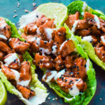 Low Carb Chicken Teriyaki Salad Wraps