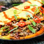 Schnell gemachtes Low Carb Frühlingsrollen Omelett