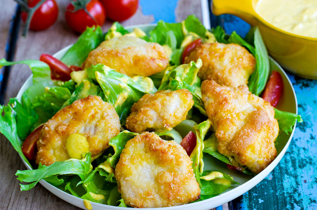 Low Carb Chicken Nugget Salat