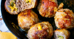 Gefüllte Low Carb Bacon Cheeseburger Bites